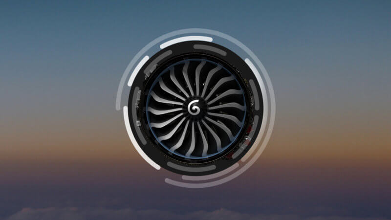An interactive fly-through of a new engine